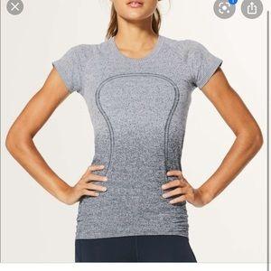 lululemon swiftly tech t shirt white gray ombré 4